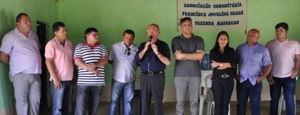 Secretário da Casa Civil, Nelson Martins, visita comunidades de Santa Cruz, Marrecas 1 e 2, em Santa Quitéria, para execução das obras de abastecimento d'água no Projeto São José III